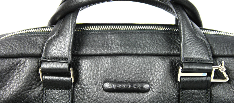 Cartera porta documentos y portátil de piel con dos asas marca Piquadro - comprar precio 305€ euros