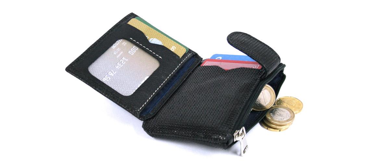 Cartera tarjetero monedero piel grabada - comprar online precio 34€ euros