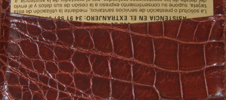 Cartera tarjetero piel cocodrilo auténtica - Comprar Precio 231€ euros - Hombre