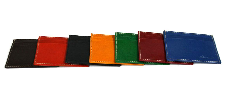 Cartera Tarjetero sencillo de piel  para tarjetas crédito marca Solohombre - comprar online precio 25€ euros