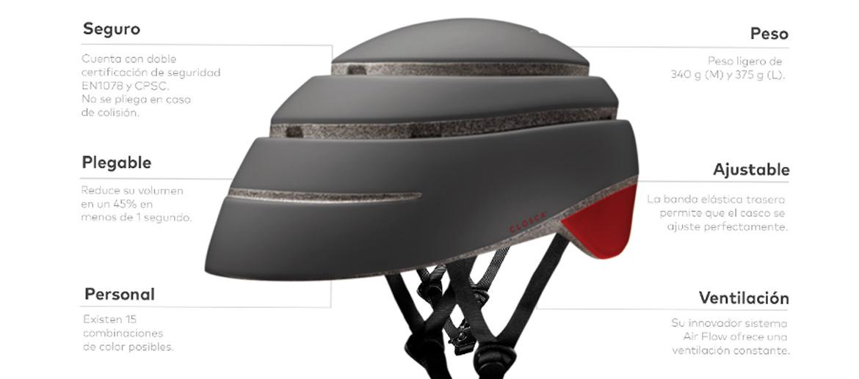 Casco plegable Helmet Loop para bicicleta o patinete - comprar online precio 70€ euros