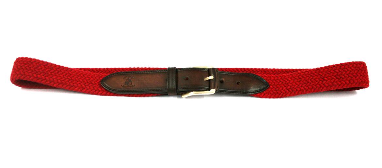 Cinturón de algodón elástico y detalles en piel - comprar online precio 45€ euros