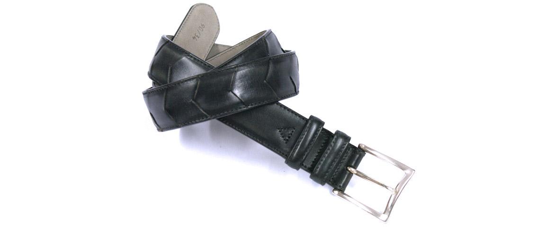 Cinturón de piel con dibujo marca Solohombre - comprar online precio 59€ euros