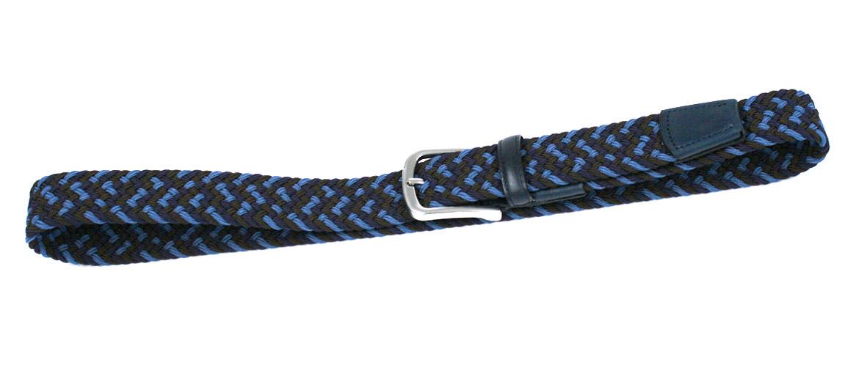 Cinturón elástico textil azul, celeste y marrón marca Solohopmbre - comprar online precio 45€ euros