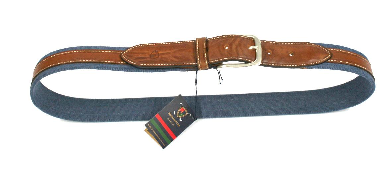 cinturón hombre de lona con detalle de piel marca Solohombre - comprar online precio 39€ euros