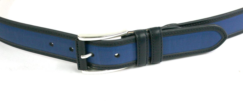 Cinturón  de piel color azul cobalto marca Leyva - comprar online precio 67€ euros