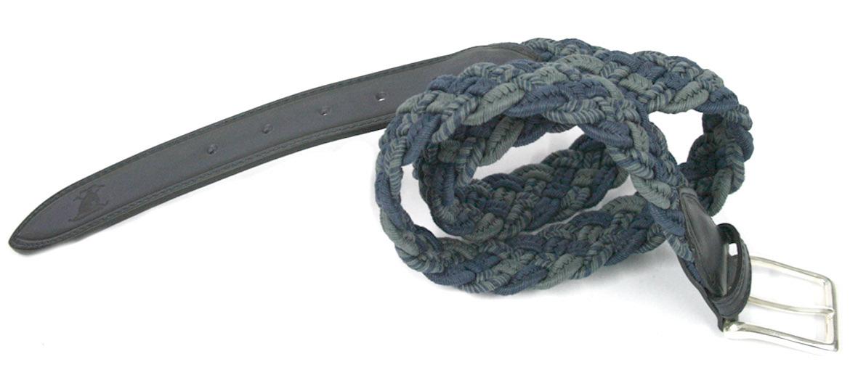 Cinturón elástico trenzado de goma tonos azules marca Solohombre - comprar online precio 53€ euros