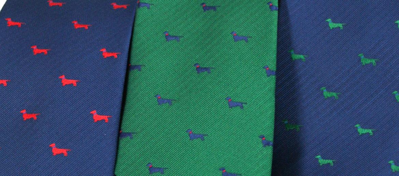 Corbata de seda con motivo de perros - comprar online precio 39€ euros