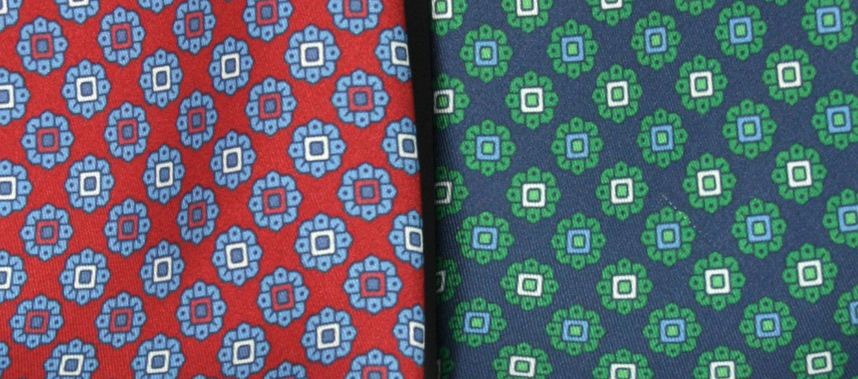 Corbata de seda natural con dibujo pequeño - comprar online precio 39€ euros