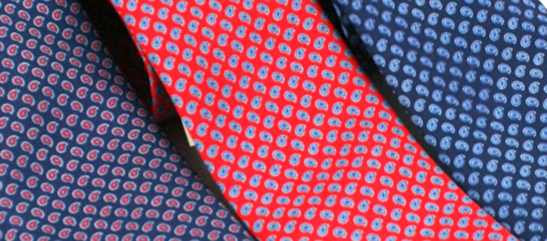 Corbata de seda natural con dibujo cachemir - comprar online precio 39€ euros