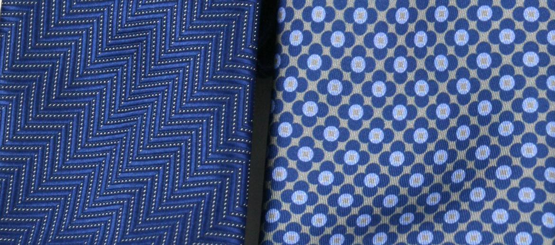 Corbata de seda natural con tonos azules - comprar online precio 39€ euros