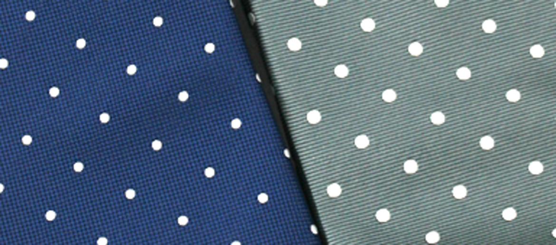 Corbata de seda natural dibujo de lunares - comprar online precio 39€ euros