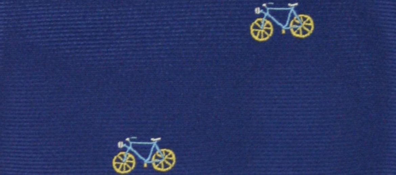 Corbata de seda natural con motivo de bicicleta - comprar online precio 39€ euros