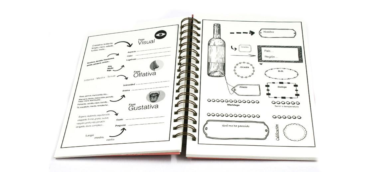 Cuaderno de catas para divertirte analizando tus vinos tintos preferidos - comprar online precio 25€ euros