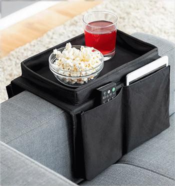 Bandeja para el brazo de sofá con bolsillos para mandos, Ipad o lo que se te ocurra - comprar online precio 18€ euros