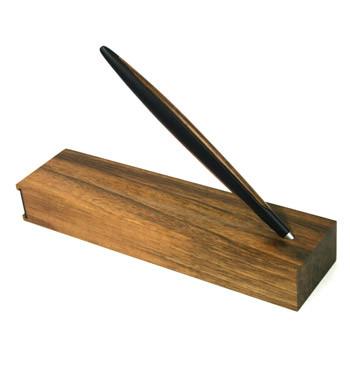 Bolígrafo con base de madera y aluminio de color - comprar online precio 118€ euros