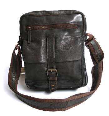 Bolso bandolera de piel envejecida color marrón - comprar online precio 98€ euros