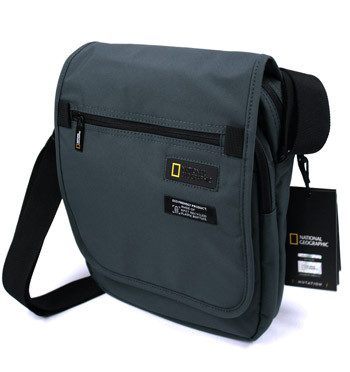 Bolso bandolera con solapa de tejido reciclado marca National Geographic - comprar online precio 45€ euros