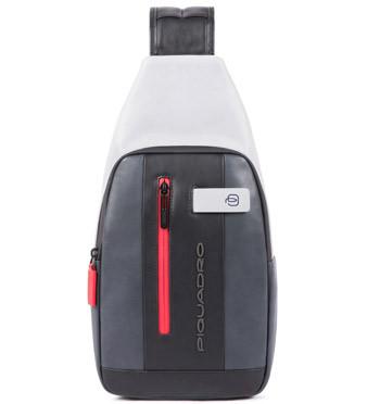 Bolso cruzado en piel marca Piquadro color gris - comprar online precio 180€ euros
