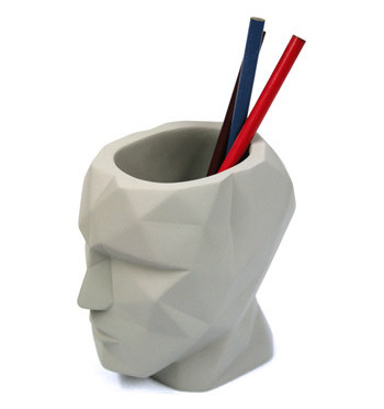 Bote de lapices con forma de cabeza humana - comprar online precio 18€ euros
