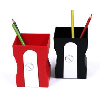 Bote de lápices divertido con forma de sacapuntas - comprar online precio 12€ euros