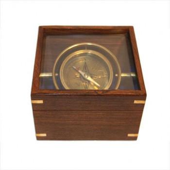 Brújula basculante en caja de madera comprar online