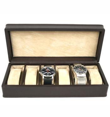 Relojero de piel para guardar 6 relojes marca Solohombre - comprar online - Precio 145€ euros
