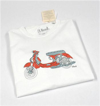 Camiseta con dibujo de tu moto Vespa - comprar online precio 25€ euros