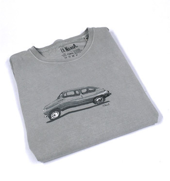 Camiseta de verano con dibujo del mítico coche 600 - comprar online precio 25€ euros