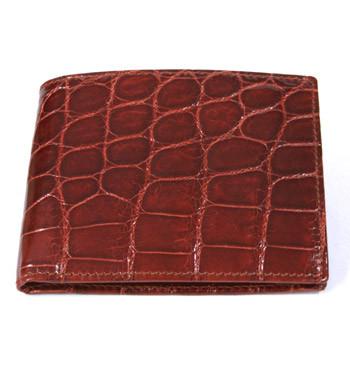 Cartera billeterao tarjetero sencillo genuina piel de cocodrilo tipo americano - Comprar online Precio 450€