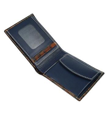 Cartera billetera con monedero piel grabada marca Solohombre - comprar online precio 44€ euros