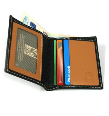 Cartera billetera de piel negra con protección de RFID marca el Potro - comprar online precio 36€ euros