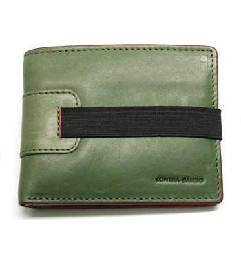 Cartera billetera tarjetero con monedero de piel color verde - comprar online precio 32€ euros