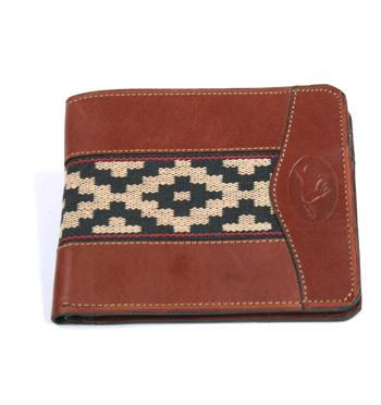 Cartera billetera tarjetero de cuero y lona - comprar online precio 29€ euros