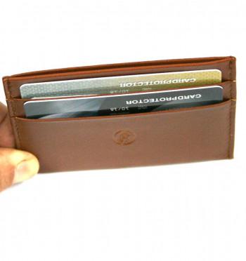 Tarjetero sencillo con bolsillo para billetes en piel - Comprar Precio 25€ euros