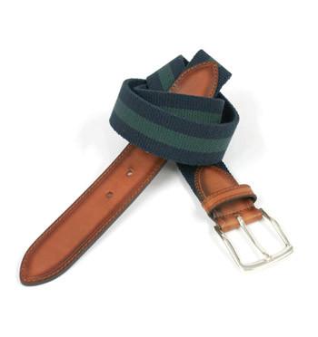 Cinturón elástico combinado azul y verde - comprar online precio 39€ euros
