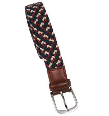 Cinturón elástico textil azul verde granate y beige marca Solohopmbre - comprar online precio 45€ euros