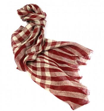 Foulard hombre a cuadros de lino y algodón - Comprar Online Precio 45€ euros