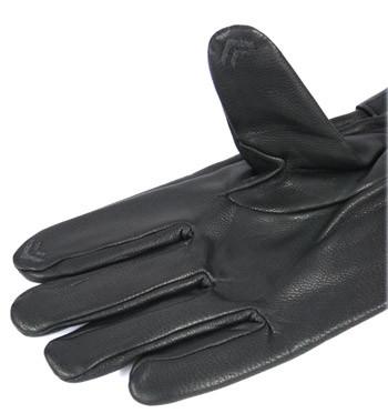 Guantes de piel y forro polar con dedos táctiles - comprar online precio 62€ euros