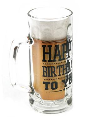 Jarra de cerveza para celebrar su cumpleaños .- comprar online precio 16€ euros