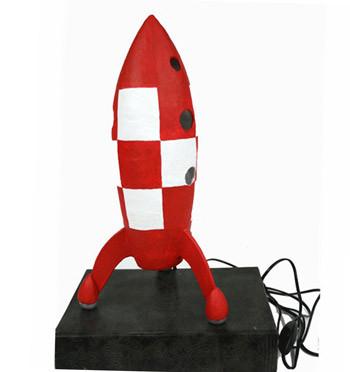 Lampara cohete del comic de aterrizaje en la luna - comprar online precio 88€ euros