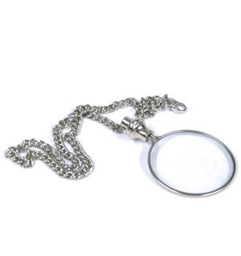 Lupa de bolsillo con cadena para leer textos pequeños - comprar online precio 18€ euros