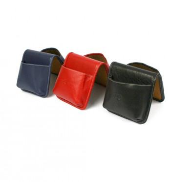 Organizador de sobremesa y escritorio en piel, colores: azul marino, habana, marrón, negro y rojo