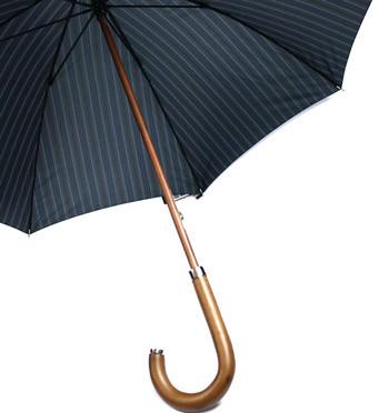Paraguas largo con caña empuñadura y puntera de madera - comprar online precio 79€ euros