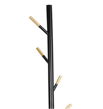 Perchero negro con detalles en madera natural para un rincón de tu casa o despacho - comprar online precio 85€ euros