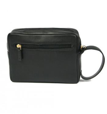 Bolso de mano hombre en piel negra o marrón con asa - Comprar online Precio 65€ euros