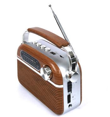Radio AM/FM con bluethooth a corriente o pila recargable - comprar online precio 49€ euros