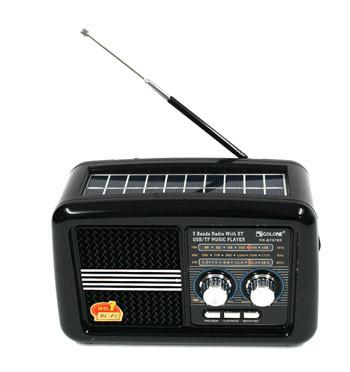 Réplica radio de baquelita con altavoz por bluetooth con panel solar para tu casa o despacho - comprar online precio 60€ euros