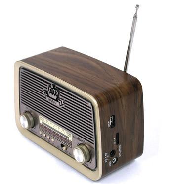 Réplica radio estilo antiguo con entrada USB, tarjeta y altavoz bluetooh - comprar online precio 49€ euros