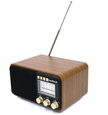 Réplica radio antigua de madera FM/AM/SW con conexión USB - comprar online precio 65€ euros